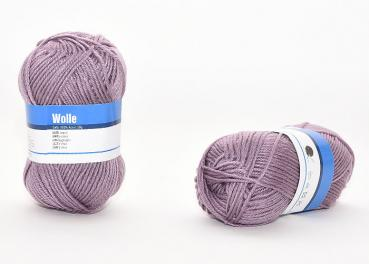 Wolle, rosé-taupe, 50g, 100% Acryl