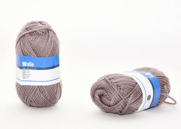 Wolle, taupe, 50g, 100% Acryl